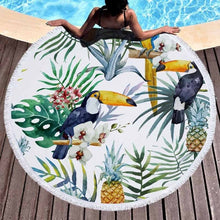 Tropical Round Beach Towel