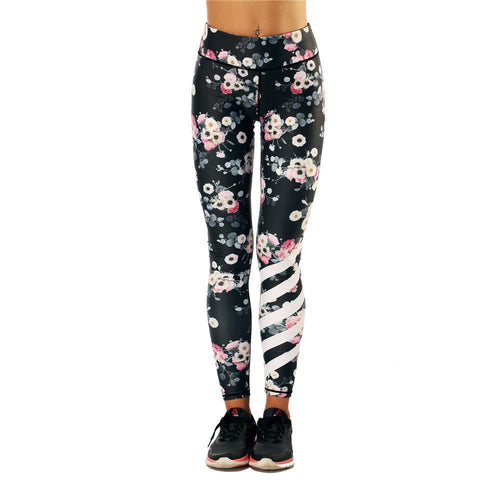 Floral Stripe Leggings