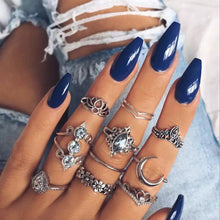 Vintage Boho Knuckle Ring Set
