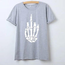 Skeleton Middle Finger T Shirt