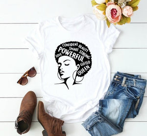 Afro Girl Power T shirt