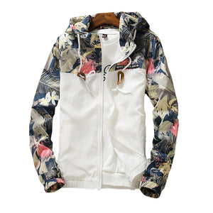 Casual Floral Windbreaker