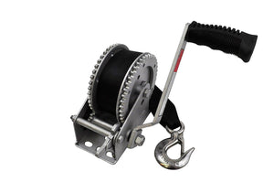 SeaSense 2000LB Galvanized Dual Drive Winch with 25-Foot Strap