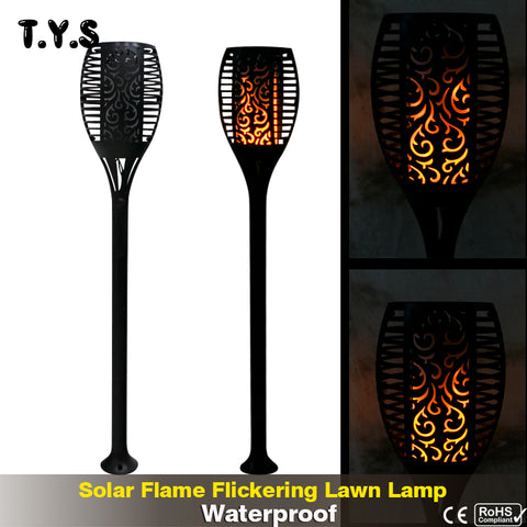 Solar Flame Flickering Lawn Lamp Led Dancing Flame Light Waterproof Outdoor Garden Lamp - Viral Farm