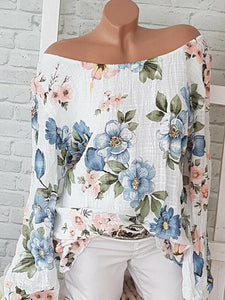 Fashion Printed Long Sleeve Loose Casual Top