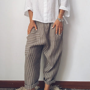Casual Stripe Loose Casual Pants