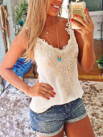 Lace Crochet Vest Slim Summer Camis