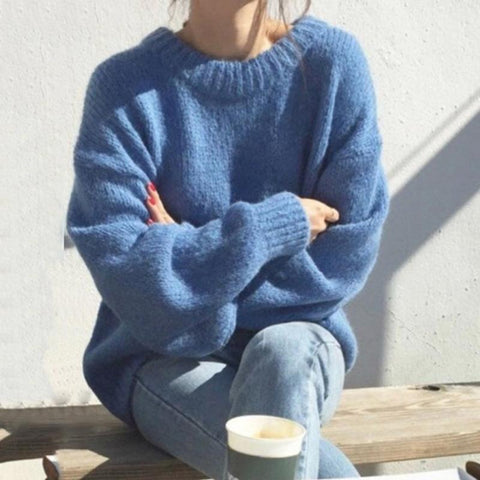 Loose Solid Color Sweater
