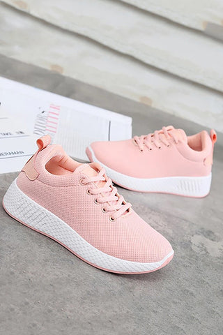 Fashion Pure Color Woven Sports Shoes