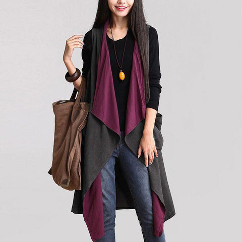 Irregular Two-Faced Vest Cardigan