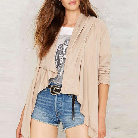Fashion Single-Breasted Irregular Cardigan