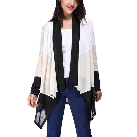Casual Solid Color Irregular Cardigan