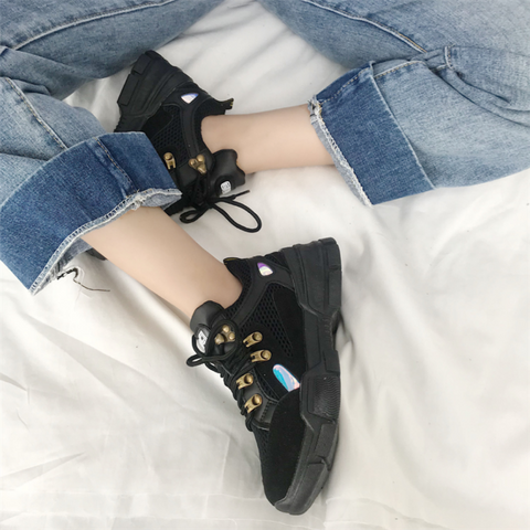 Fashionable Frenulum Heighten Platform Shoes