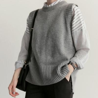 Fashion Loose Sleeveless Knitted Sweater Vest