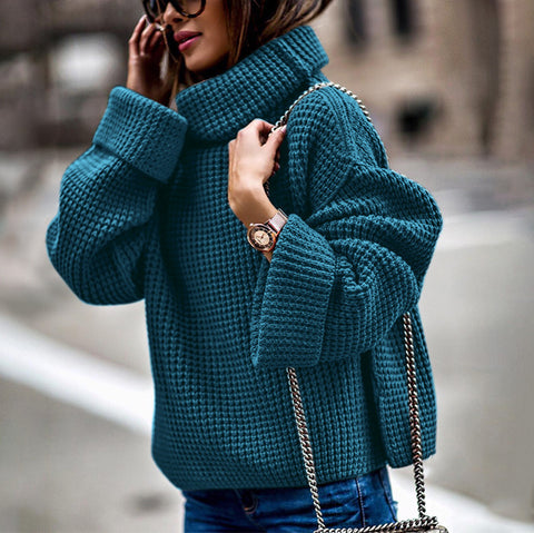 Women's Fashion Loose Turtleneck Sweater Sweater
