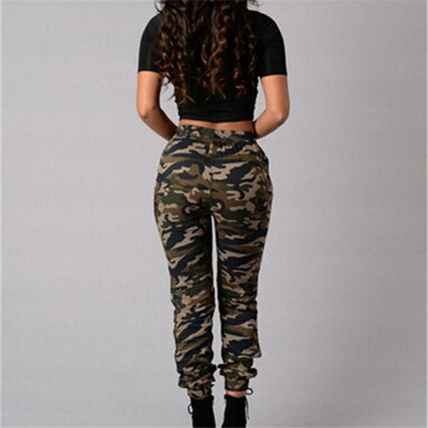 Fashionable and casual printed camouflage pants