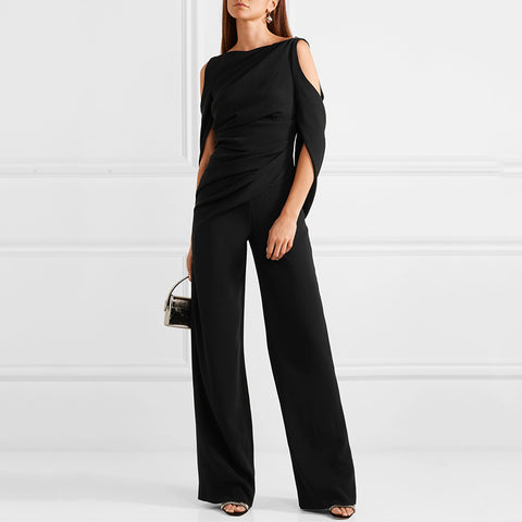 Womens Elegant Off-Shoulder Jumpsuit