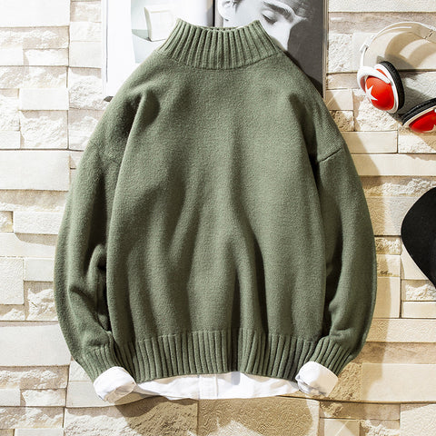 Men's Loose Knit Bottoming Knit Shirt