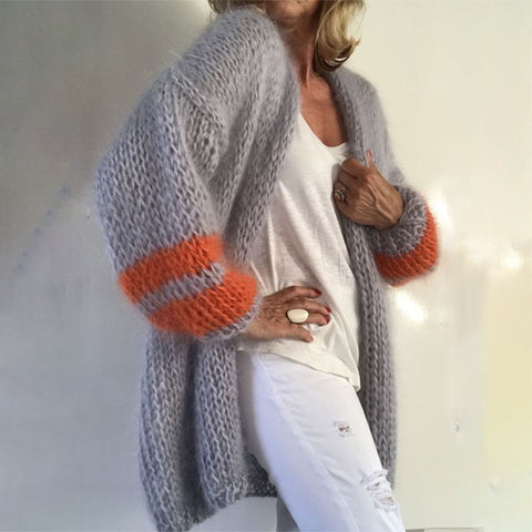 Women's Modest Loose Knit Cardigan
