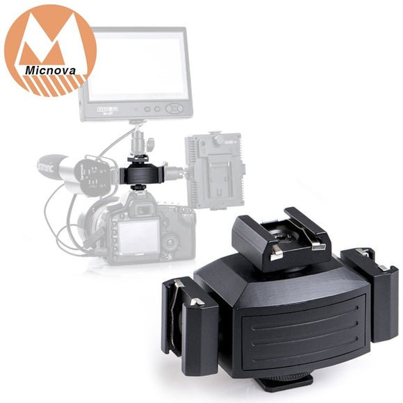 Pro Tripod Shoe Bracket Camera Mount Adapter for Lights, LED Monitors, Microphones.