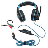 Gaming Headphones Deep Bass Game Earphone Headset with Mic LED Light for PC Computer Gamer