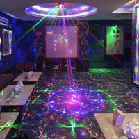 96 Patterns RGB Mini Laser Projector Lighting Effect With LED Blue Lights
