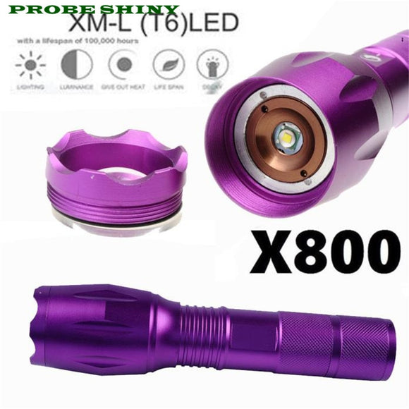 LED 3000lm Flashlight,color Purple