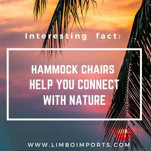 Connect with NATURE while relaxing in a Hammock Chair. Why not?