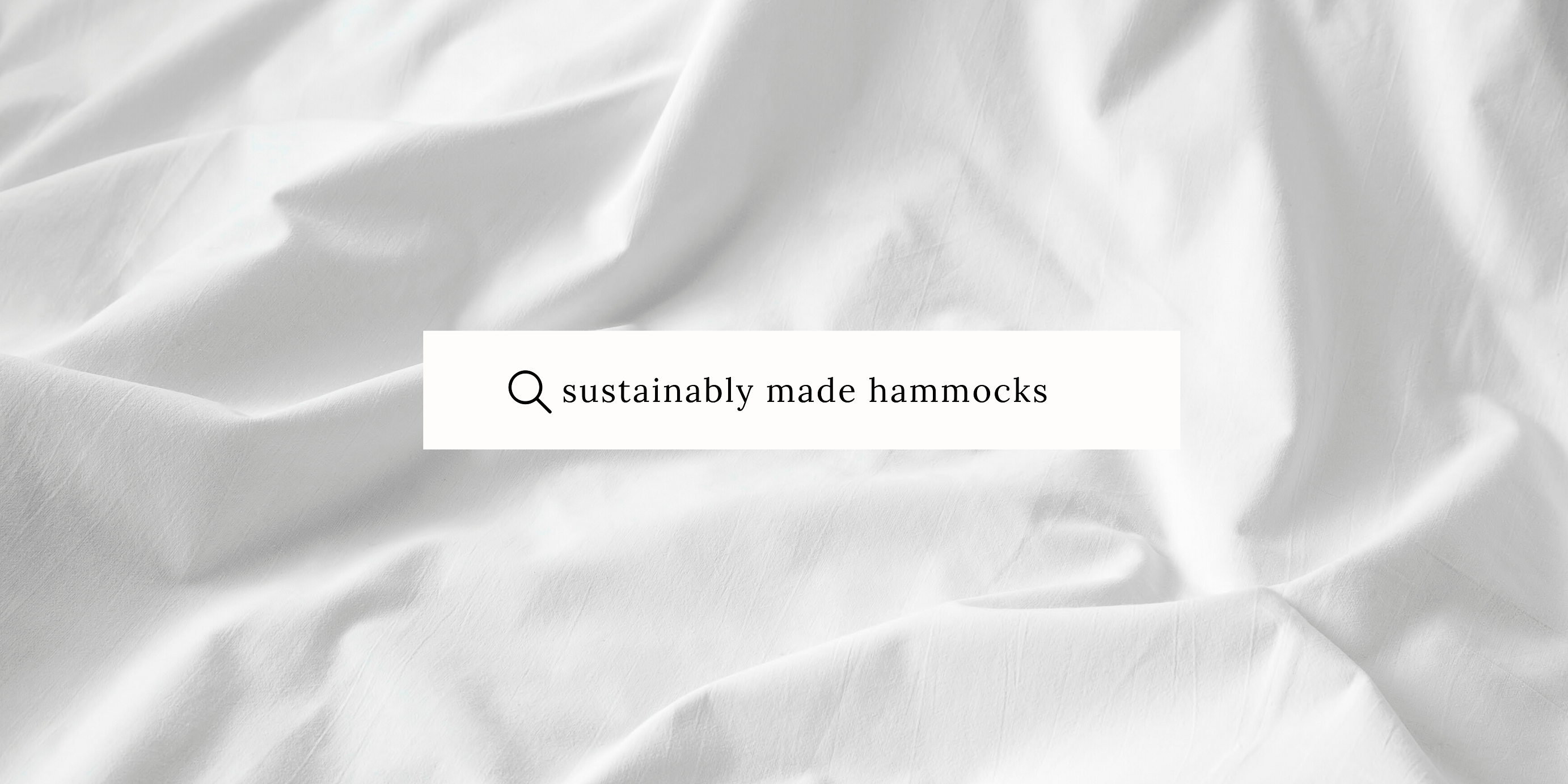 ethical and sustainable hammocks