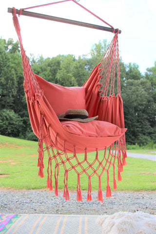 living coral blush hammock hanging swing chair home decor