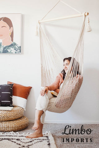 indoor macrame hammock swing chair