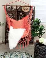 blush pink pillow hammock chair swing indoors