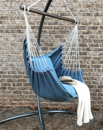 hanging chair stand blue jeans denim eco friendly hammock swing chair