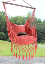 coral pink girl bedroom hammock chair hanging swing fememnie