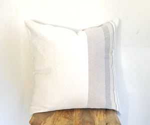 Cocoa Cotton Striped Handwoven Pillow