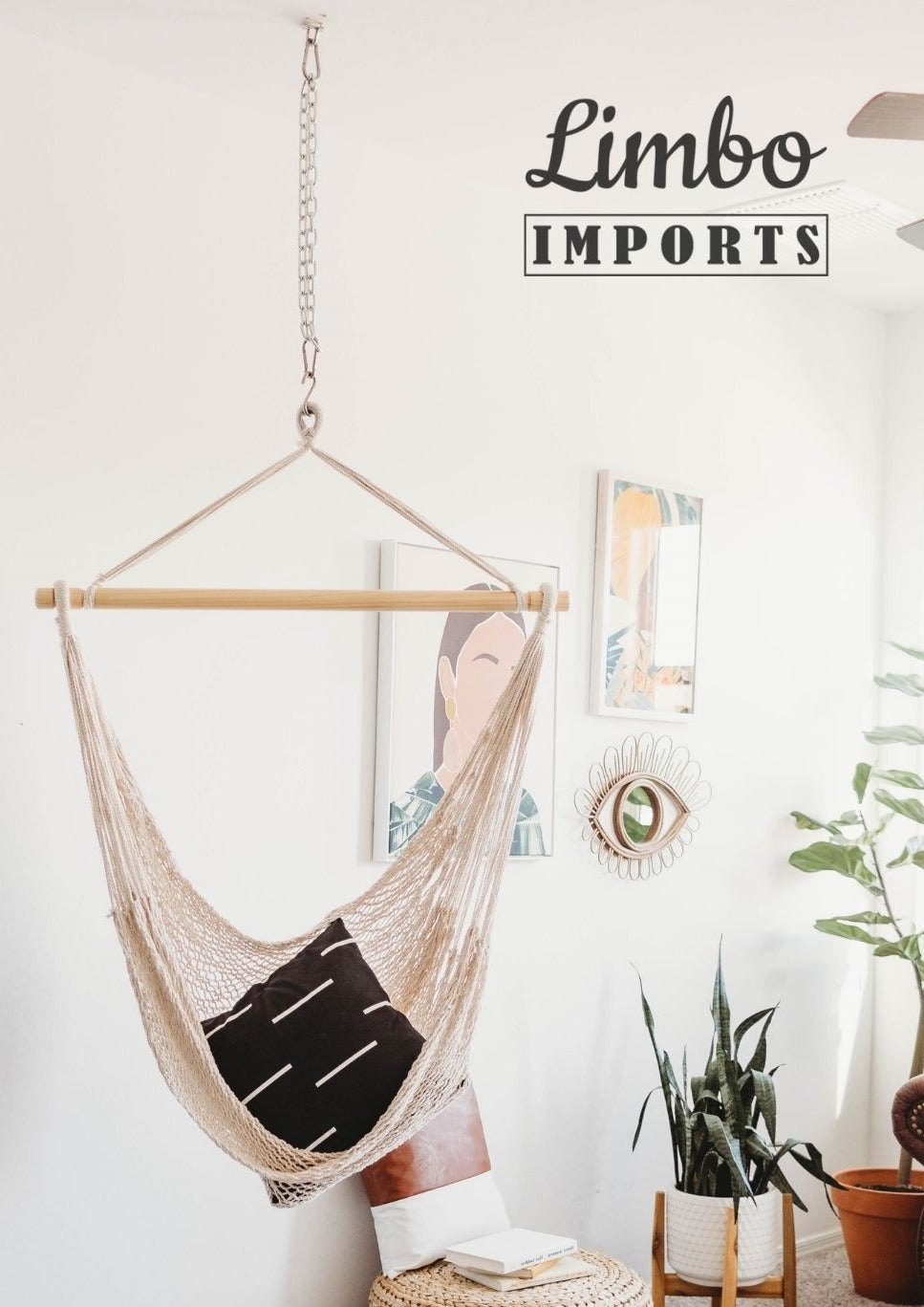 Picture of: Indoor Hammock Swing Chair Hanging Kit Concrete Ceiling Mount Limbo Imports Hammocks