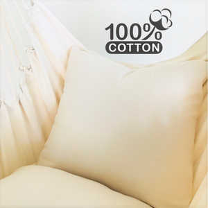 Natural Cotton Throw Pillow Cover