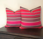 Ruby Red Boho Cotton Handwoven Pillow Cover