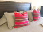 pink boho pillow cover