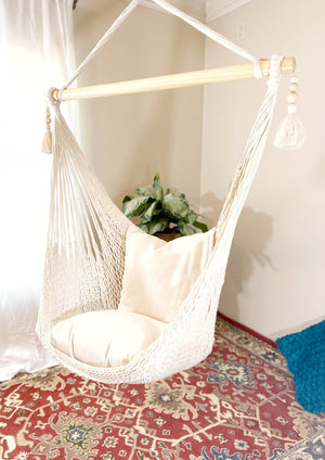 beads boho handmade hanging macrame hammock swing chair