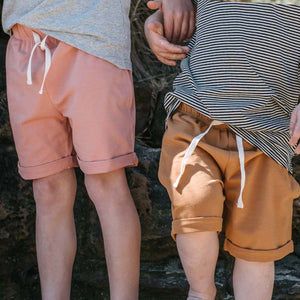 Tobacco cuffed shorts