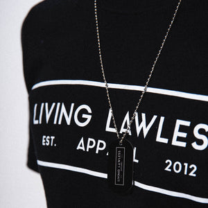 Living Lawless Aluminum Dog Tag