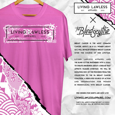 Living BRawless Breast Cancer Awareness Tees