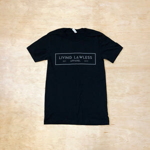 Black T Shirt w/Gray Logo