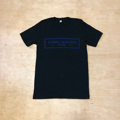 Black T Shirt w/Royal Blue Logo