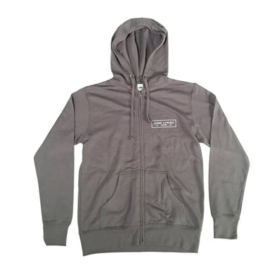 Charcoal Lightweight Zip Hooded Sweatshirt
