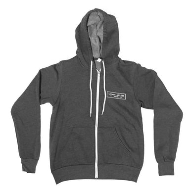 Dark Heather Gray Unisex Fleece Full Zip Hoodie