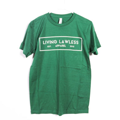 Green T Shirt w/White Logo