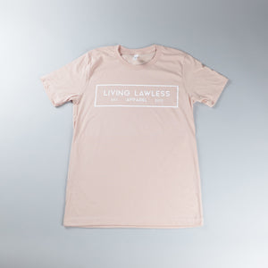 Heather Peach T Shirt w/White Logo
