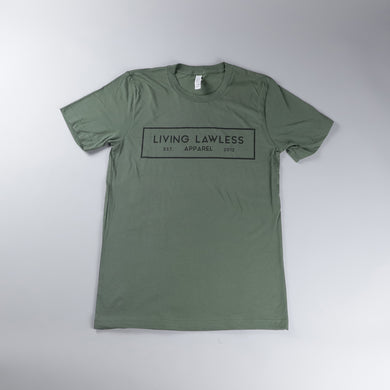 Military Green T Shirt w/Black Logo